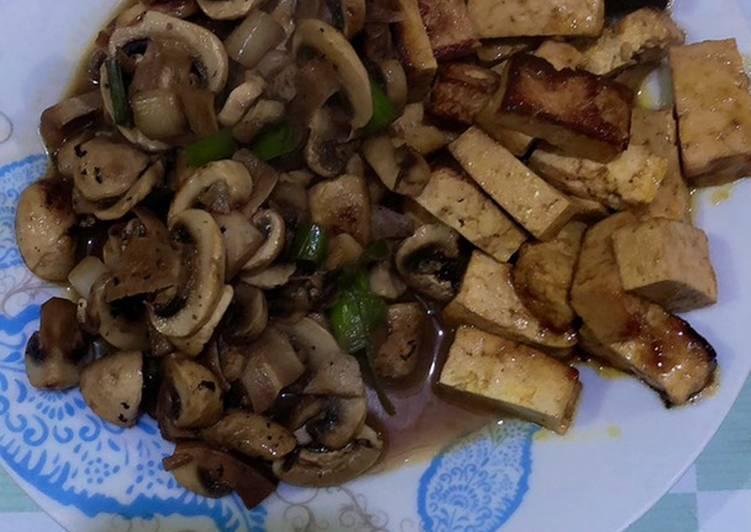 Tofu con champiñones 🍄