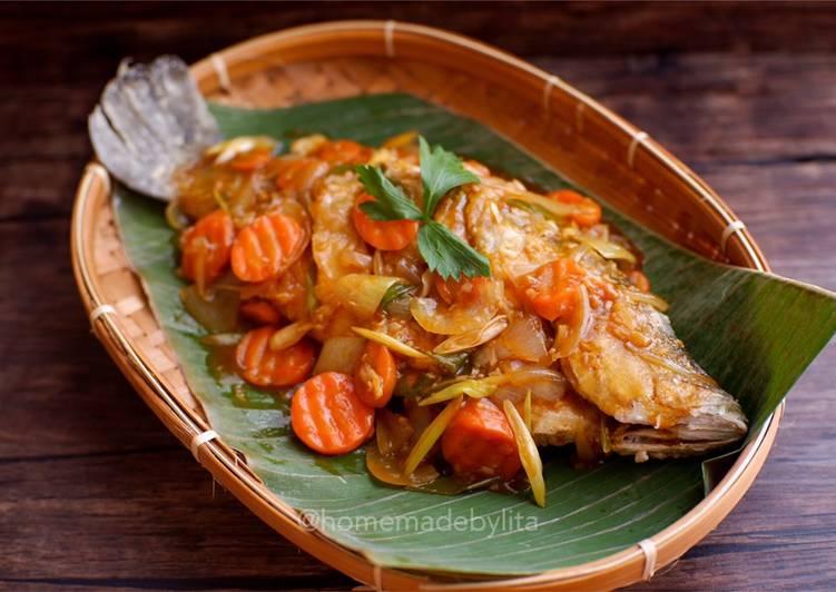 Ikan kakap goreng saus tiram #homemadebylita