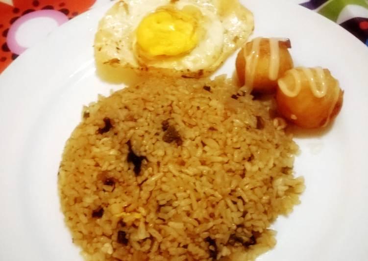 Vegetable Fried Rice with Takoyaki