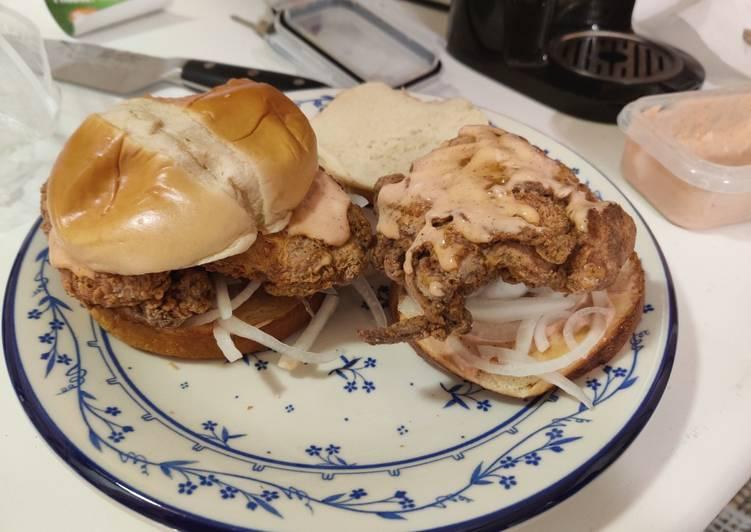 Easiest Way to Make Quick Fried Chicken Sandwich