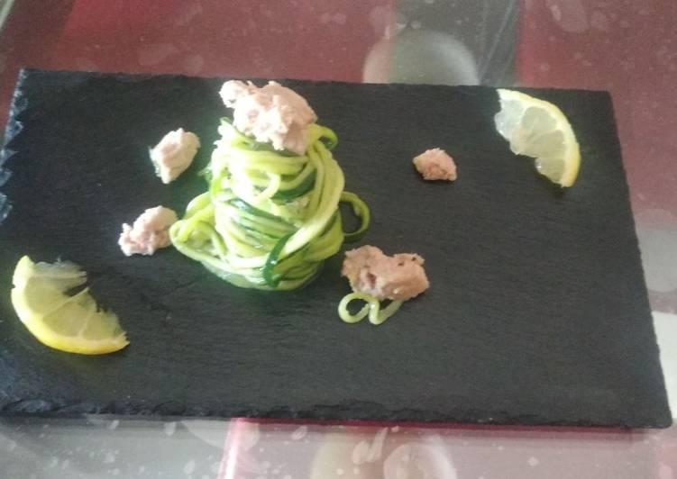 Spaghetti di zucchine tonno e limone 🍋