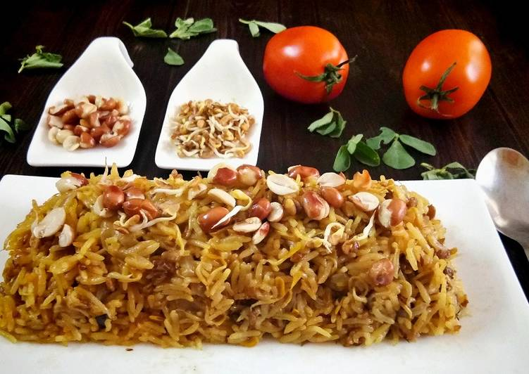 How to Prepare Homemade Sprouted Methi Pulav