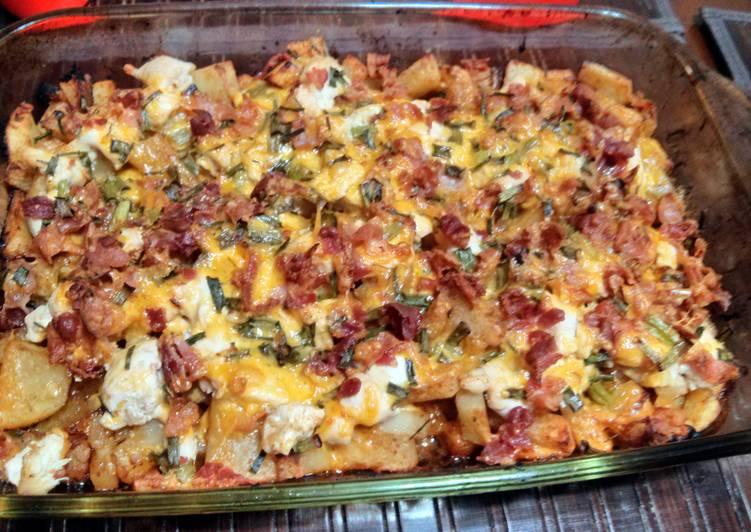 Recipe of Quick Loaded chicken casserole