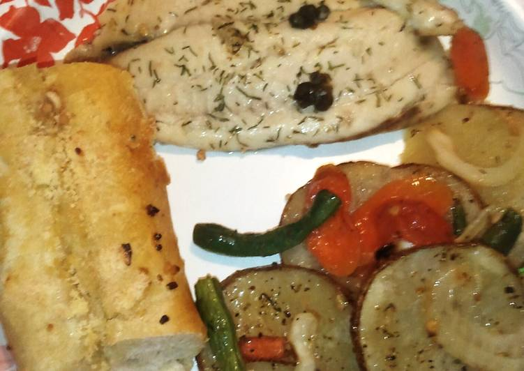 Simple Way to Make Quick Lemon Dill Tilapia with Capers
