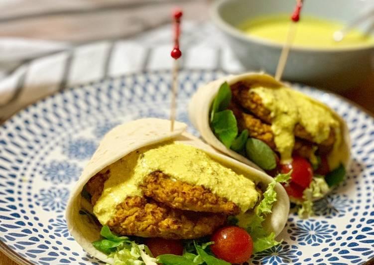 Hamburguesas vegetarianas de calabaza asada y salsa ligera de curry