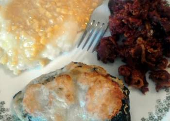 Easiest Way to Cook Tasty Garlic Mushroom Stuffed Poblano Peppers meatless