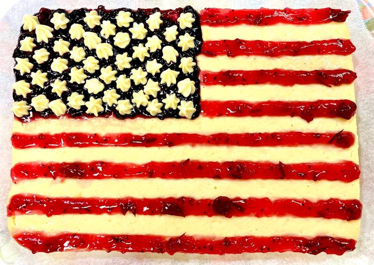 Easiest Way to Make Homemade American Flag Cake