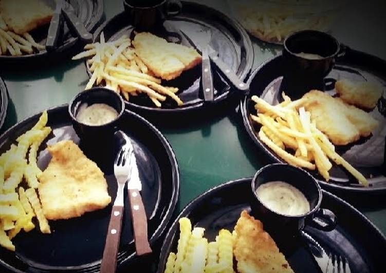 Crunchy Fish & Chips with Homemade Tartar Sauce (in english & bahasa)