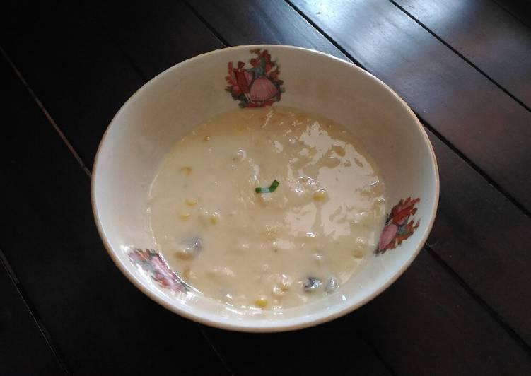 Sup Krim (Jagung, Ayam dan Jamur)