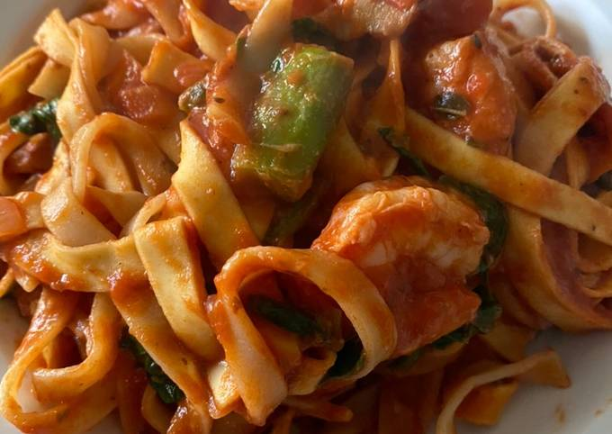 Onepot-Pasta mit Spargel und Garnelen🦐 EINFACH und LECKER 🤤