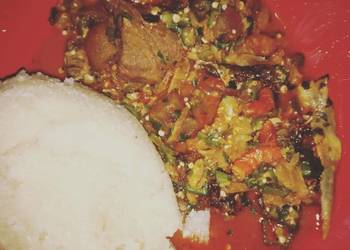 Easiest Way to Cook Perfect Okro soup with white garri