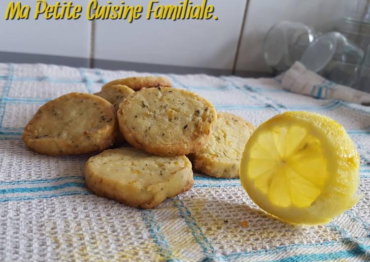 Sablés citron et basilic