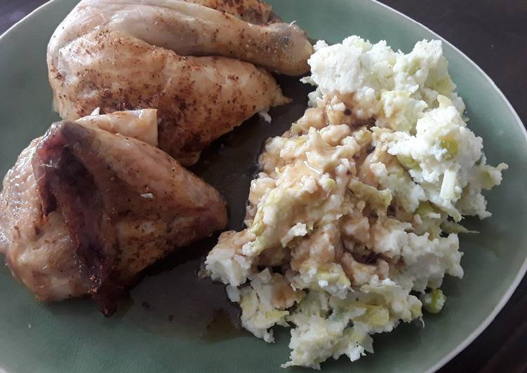 Recipe of Favorite Sig's Cabbage and Spring Onion Mash