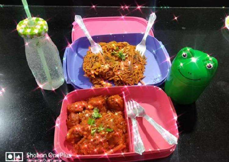 Veg Manchurian and chow mein