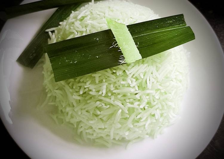 Pandan coconut milk rice