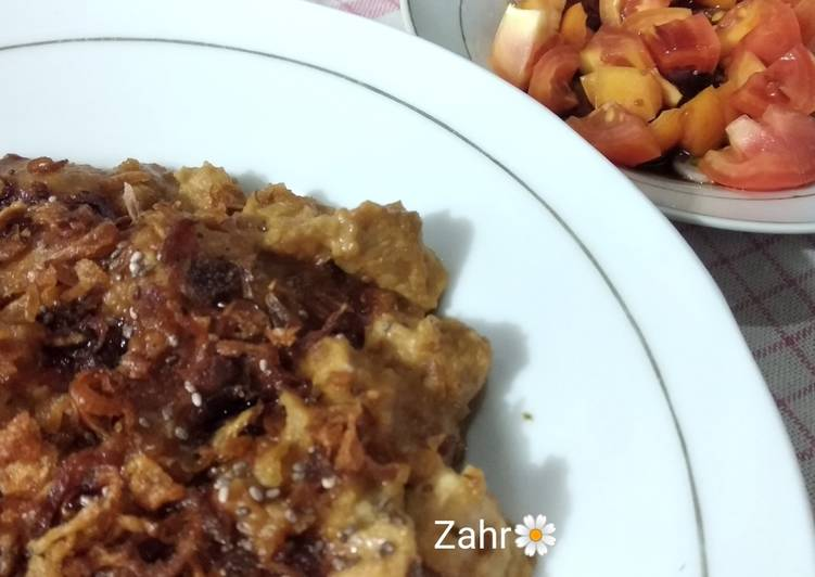 Sate Goreng Ayam Bumbu Kacang Mete
