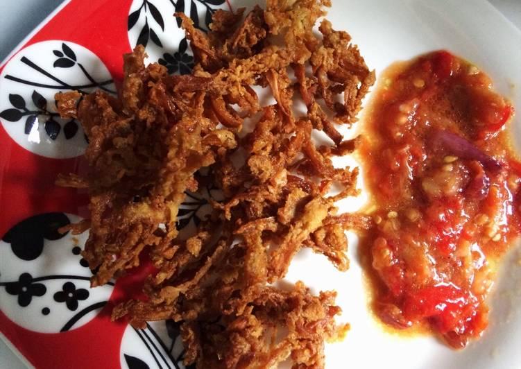 Jamur crispy sambal ayam geprek