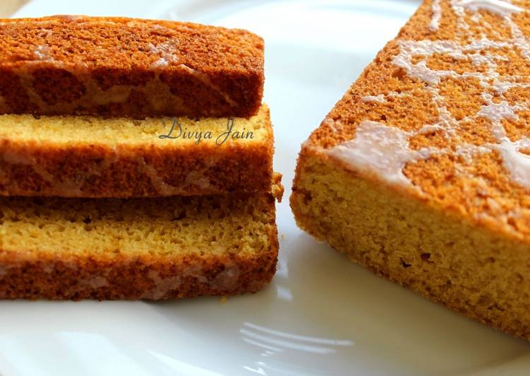 Tahinopita – Greek Style Tahini Cakewith Orange Blossom Glaze