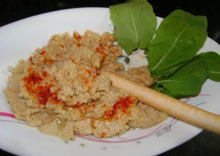 Hummus rápido con lata de garbanzos