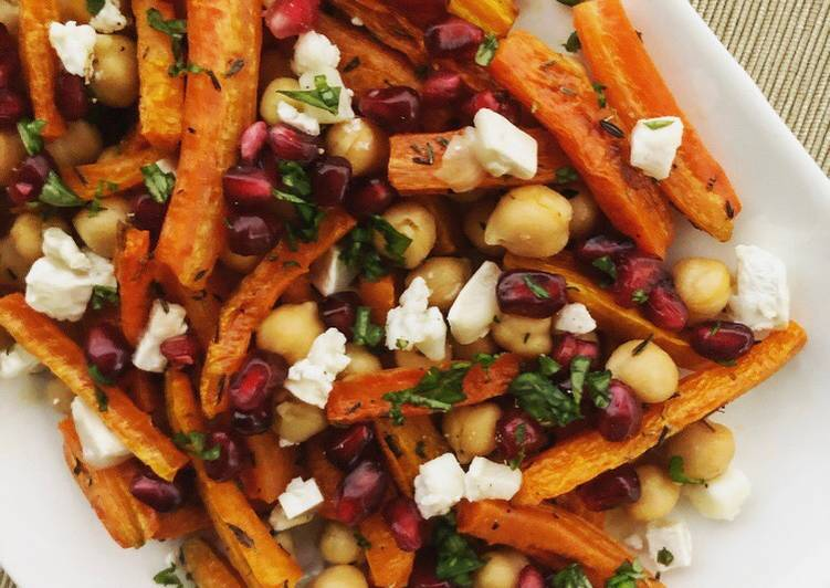 Roasted Carrot Salad with Goat Cheese