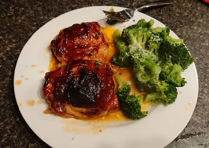 Recipe of Super Quick Homemade Baked BBQ Chicken Thighs