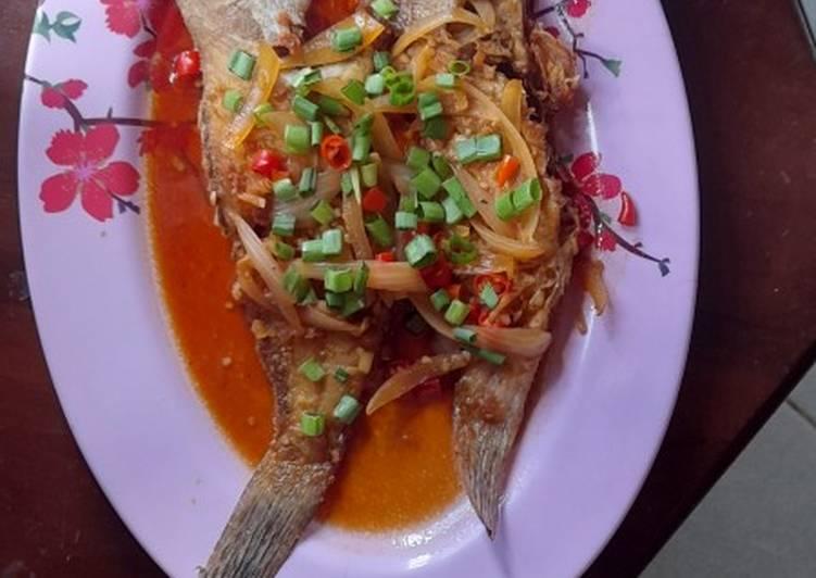 Ikan kerapu saus thailand