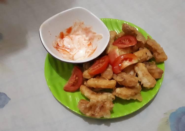 Cemilan sore fish n tomato fruit (krispi)