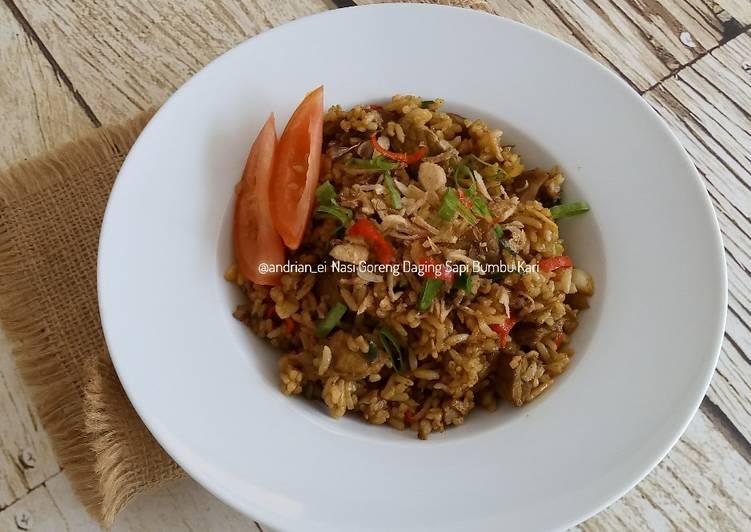 Nasi Goreng Daging Sapi Bumbu Kari