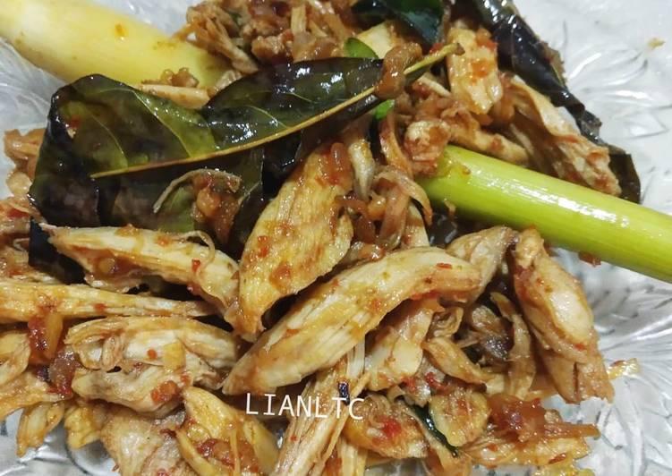 Ayam suwir rempah (tidak pedas)