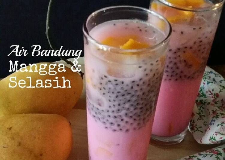 Air Bandung Mangga & Selasih #(Maraton Raya - Minuman) - resepipouler.com