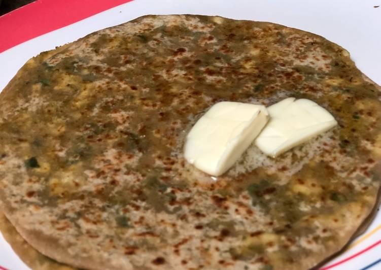 Broccoli,Cauliflower and Panner Paratha  #hmf #breakfast # post no 4