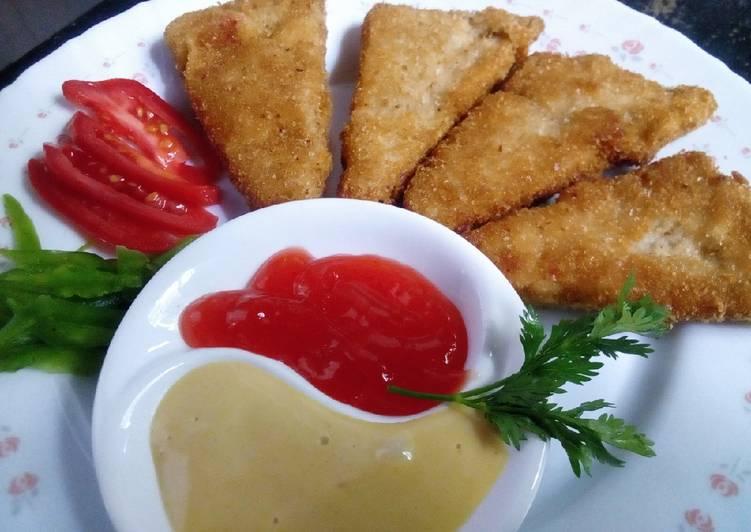 Chicken triangles with honey mustard sauce #mystablefoodcontest