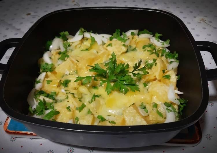 Comment Préparer Les Frites omelette au fromage 😋