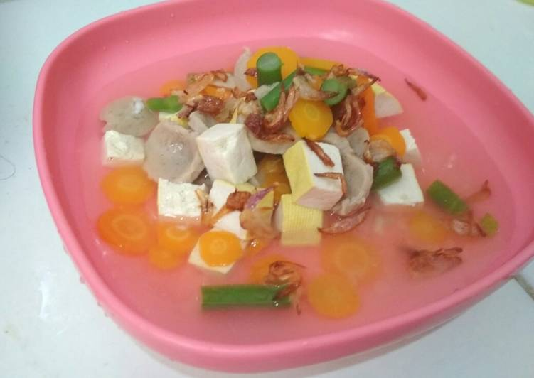 Sayur Sop Bakso Tahu