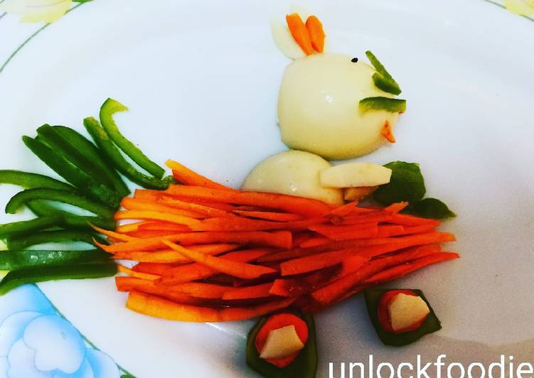 Egg Capsicum and Carrot Salad