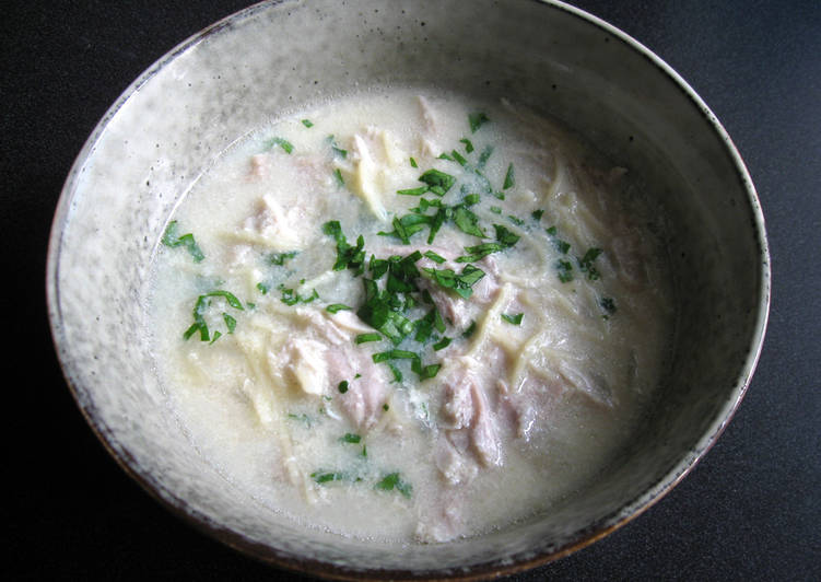 Recipe of Quick Lemon Chicken & Egg Soup