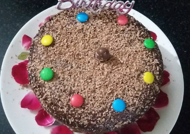 Fine Whole Wheat Eggless Chocolate Cooker Cake Recipe By Abhinit Kaur Personalised Birthday Cards Arneslily Jamesorg