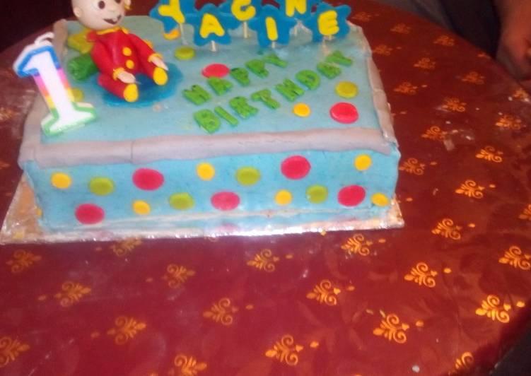 كيكة عيد ميلاد ابني بالصور من I K B كوكباد