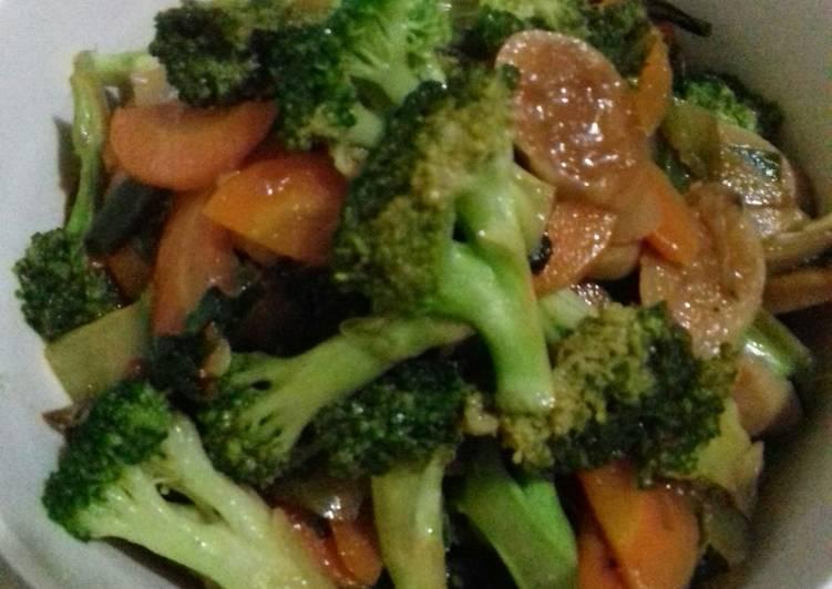 Tumis Wortel Bakso Brokoli