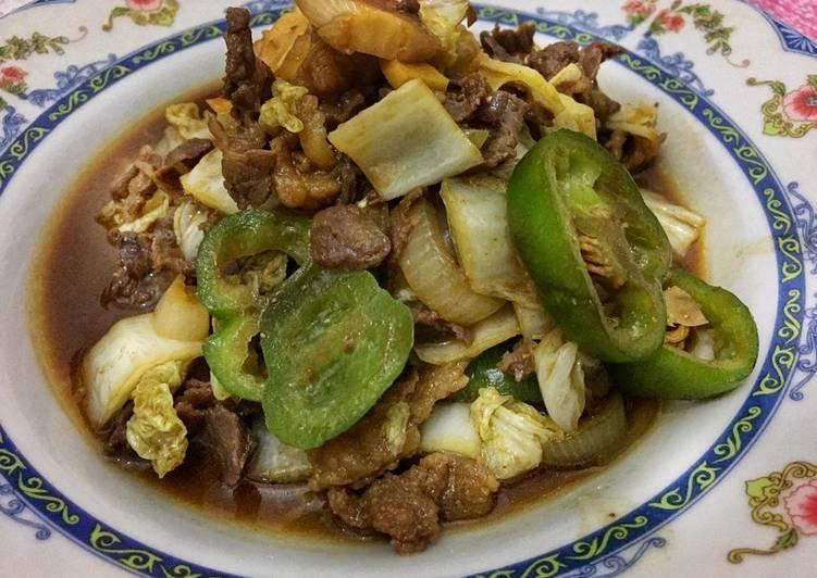 Beef Teriyaki mix sawi