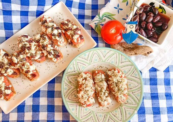 Cretan Dakakia 🇬🇷 (authentique Greque recette + diététique)