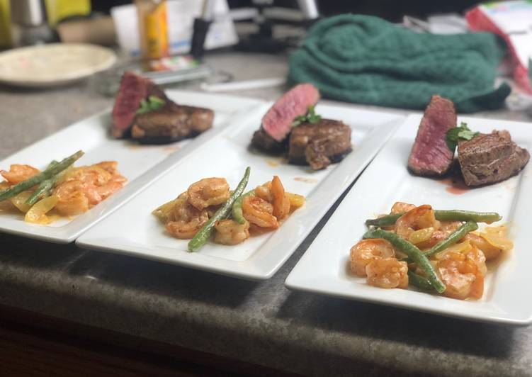 15 Minute Easiest Way to Prepare Ultimate Fillet Mignon w/ Kicker Shrimp Scalloped Baby Potatoes