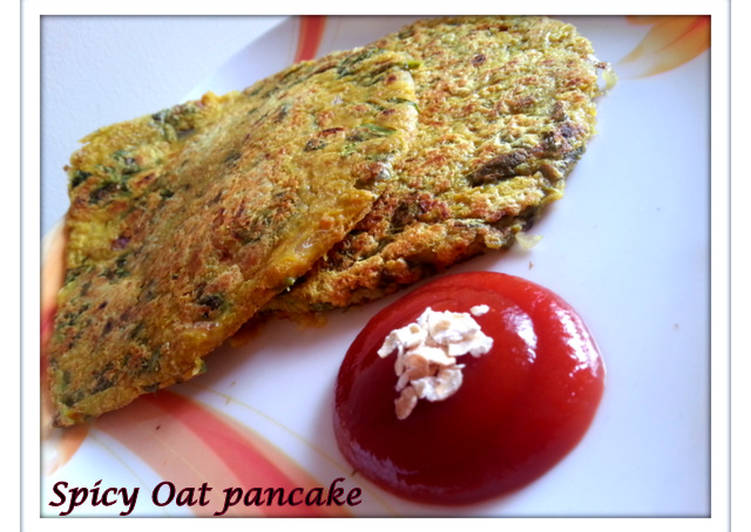 Spicy Spinach-Oat Pancake