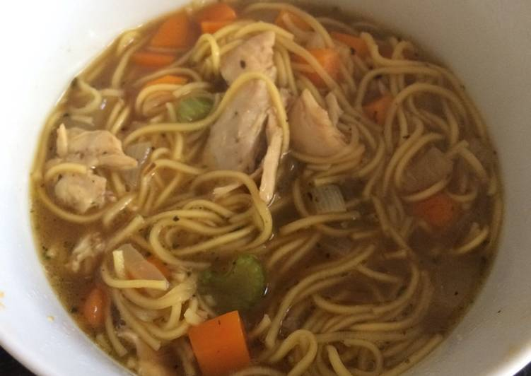 Easiest Way to Prepare Super Quick Homemade Full of flavour Chicken noodle soup 🍜