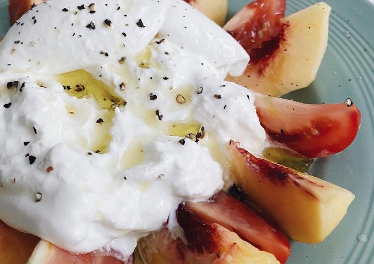 Steps to Prepare Most Popular Peach and Tomato Caprese Salad