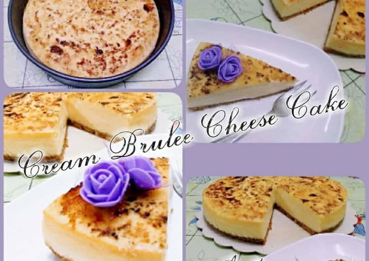 Cream Brulee Cheese Cake