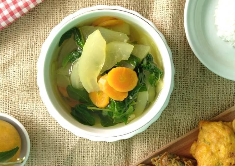 Sayur Bening BaPaTel (Bayam, Pepaya Mentah dan Wortel)