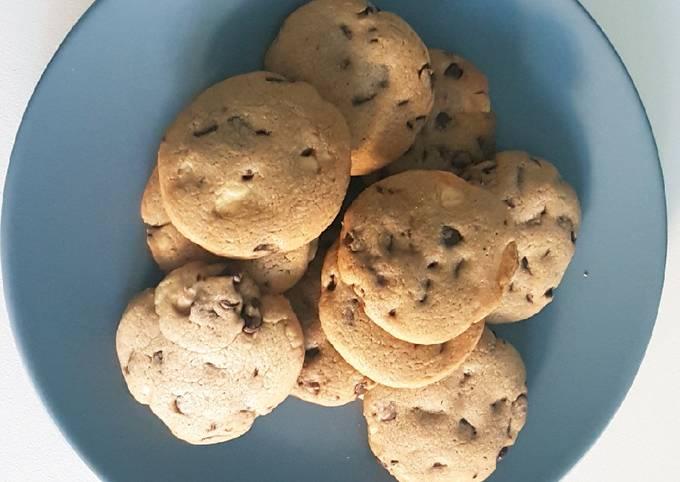 Cookie chocolats noir et blanc