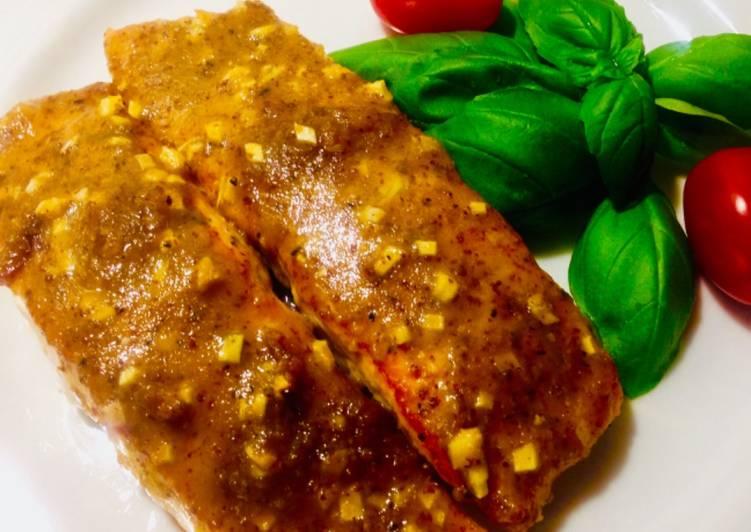 Roasted honey mustard salmon