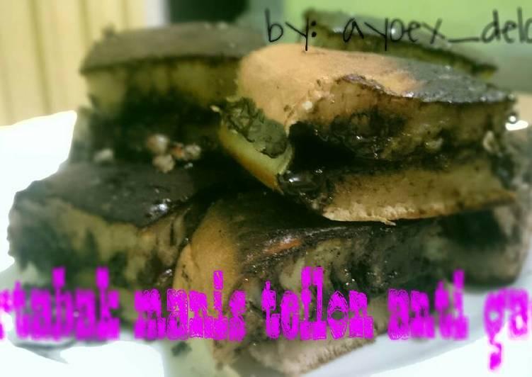 Resep Martabak manis teflon anti gagal (v2), Bikin Ngiler